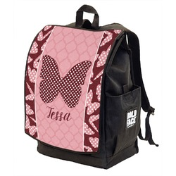 Polka Dot Butterfly Backpack w/ Front Flap  (Personalized)