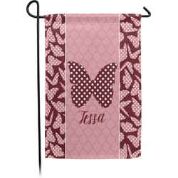 Polka Dot Butterfly Single Sided Garden Flag (Personalized)