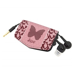 Polka Dot Butterfly Genuine Leather Cord Wrap (Personalized)