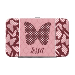Polka Dot Butterfly Genuine Leather Small Framed Wallet (Personalized)