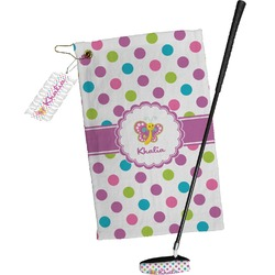 Polka Dot Butterfly Golf Towel Gift Set (Personalized)