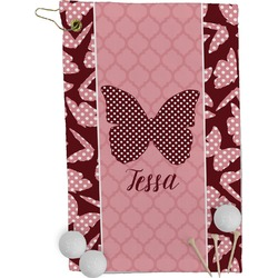 Polka Dot Butterfly Golf Towel - Full Print (Personalized)