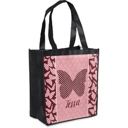 Polka Dot Butterfly Grocery Bag (Personalized)
