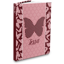 Polka Dot Butterfly Hardbound Journal (Personalized)