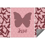Polka Dot Butterfly Indoor / Outdoor Rug (Personalized)