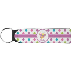 Polka Dot Butterfly Keychain Fob (Personalized)