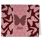 Polka Dot Butterfly Kitchen Towel - Full Print (Personalized)