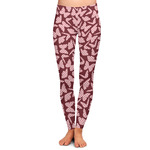 Polka Dot Butterfly Ladies Leggings (Personalized)
