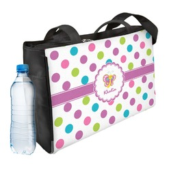 Polka Dot Butterfly Ladies Workout Bag (Personalized)