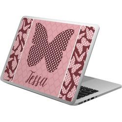 Polka Dot Butterfly Laptop Skin - Custom Sized (Personalized)