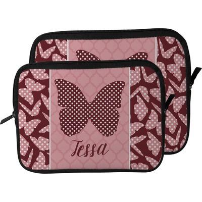 Polka Dot Butterfly Laptop Sleeve / Case (Personalized)