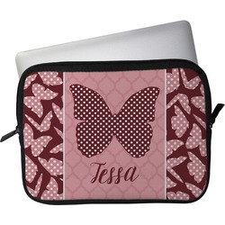 "Polka Dot Butterfly Laptop Sleeve / Case - 15"" (Personalized)"