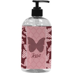 Polka Dot Butterfly Plastic Soap / Lotion Dispenser (Personalized)