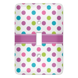 Polka Dot Butterfly Light Switch Cover (Single Toggle) (Personalized)