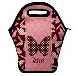 Polka Dot Butterfly Lunch Bag w/ Name or Text