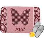 Polka Dot Butterfly Memory Foam Bath Mat (Personalized)