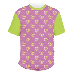 Polka Dot Butterfly Men's Crew T-Shirt (Personalized)