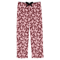 Polka Dot Butterfly Mens Pajama Pants (Personalized)