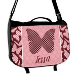 Polka Dot Butterfly Messenger Bag (Personalized)