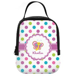 Polka Dot Butterfly Neoprene Lunch Tote (Personalized)