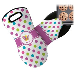 Polka Dot Butterfly Neoprene Oven Mitt (Personalized)