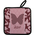 Polka Dot Butterfly Pot Holder w/ Name or Text
