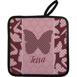 Polka Dot Butterfly Pot Holder (Personalized)