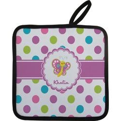 Polka Dot Butterfly Pot Holder (Personalized)