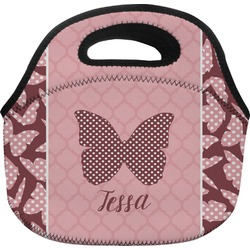 Polka Dot Butterfly Lunch Bag (Personalized)