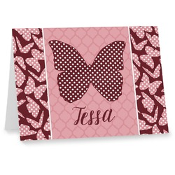 Polka Dot Butterfly Notecards (Personalized)