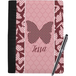 Polka Dot Butterfly Notebook Padfolio (Personalized)