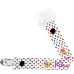 Polka Dot Butterfly Pacifier Clips (Personalized)