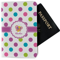 Polka Dot Butterfly Passport Holder - Fabric (Personalized)