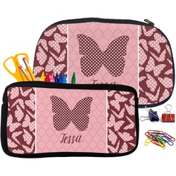 Polka Dot Butterfly Pencil / School Supplies Bag (Personalized)