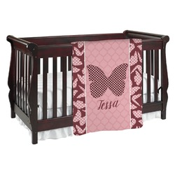 Polka Dot Butterfly Baby Blanket (Personalized)