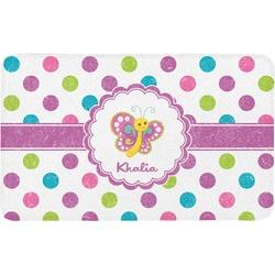Polka Dot Butterfly Bath Mat (Personalized)