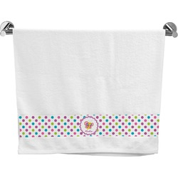 Polka Dot Butterfly Bath Towel (Personalized)