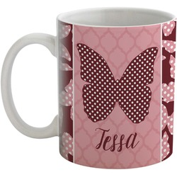 Polka Dot Butterfly Coffee Mug (Personalized)