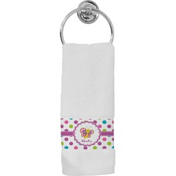 Polka Dot Butterfly Hand Towel (Personalized)