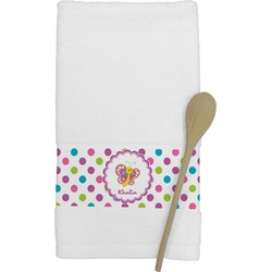 Polka Dot Butterfly Kitchen Towel (Personalized)