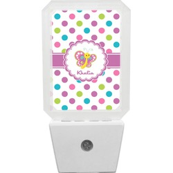 Polka Dot Butterfly Night Light (Personalized)