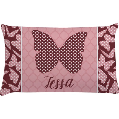 Polka Dot Butterfly Pillow Case (Personalized)