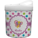 Polka Dot Butterfly Plastic Ice Bucket (Personalized)