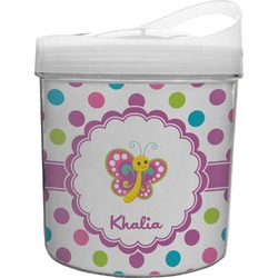 Polka Dot Butterfly Plastic Ice Bucket (Personalized)