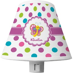 Polka Dot Butterfly Shade Night Light (Personalized)