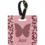 Polka Dot Butterfly Luggage Tags (Personalized)