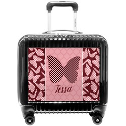 Polka Dot Butterfly Pilot / Flight Suitcase (Personalized)