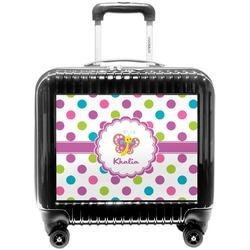 Polka Dot Butterfly Pilot / Flight Suitcase (Personalized)