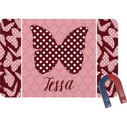 Polka Dot Butterfly Rectangular Fridge Magnet (Personalized)