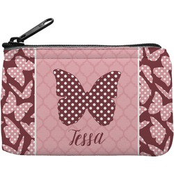 Polka Dot Butterfly Rectangular Coin Purse (Personalized)